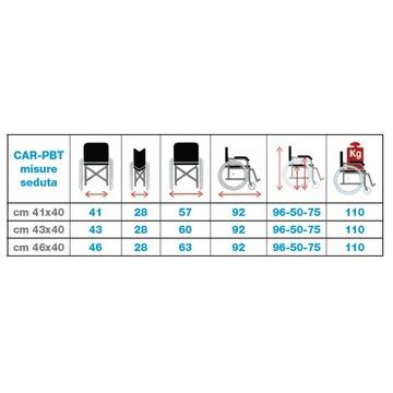 Vendita carrozzina pieghevole da transito basic for Misure cuscino carrozzina