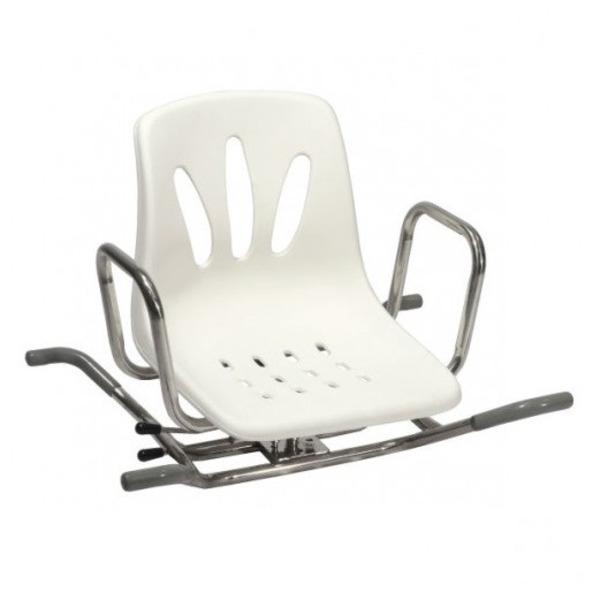 Vendita sedia girevole in acciaio inox per vasca da bagno modello ba28 rehastore il miglior - Vasca da bagno in acciaio ...